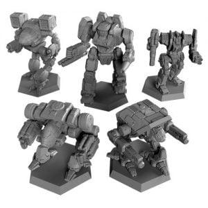 Clan Invasion Box mechs