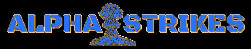 alpha strikes logo blue