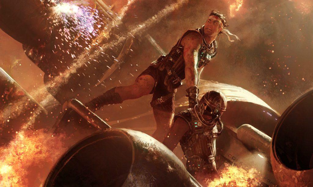 mechwarriors in battle